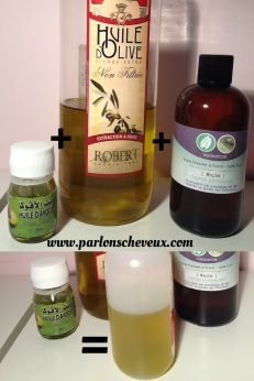 mélange huiles